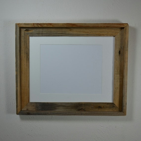 Barn Wood Photo Frame 11x14 With Mat For 8x10 Or 9x12 Or 8x12