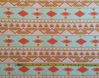 NEW Art Gallery Tribal Study Aura on cotton Lycra  knit fabric 1 yard