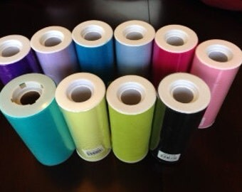 """50% OFF-- 6"""" FULL ROLL of Tulle Ribbon--25 yards--Ready to Ship--Turquoise"""