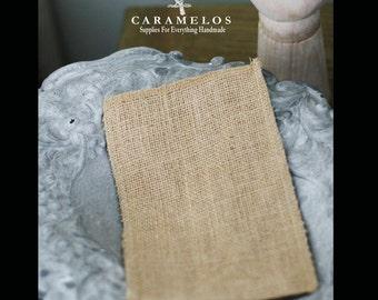 12 Burlap Bags, Pouches DIY Wedding Rustic Utensil holders Jute Favors