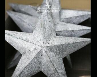 Gray Zinc Metal 5 Point 3D Star DIY Wedding and Holiday Decor
