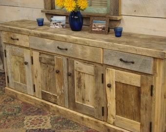 Driftwood Sideboard Cabinet (50 x 15 x 29h) (Custom size Request New pics soon)