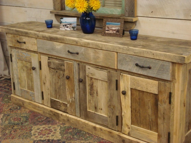 Driftwood cabinets