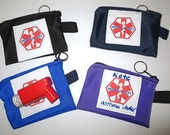Medical alert zipper pack cloth pouch size extra small cordura weather proof fabric great for inhalers and small medications -- options