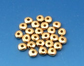 Antique Gold 5MM Nugget Heishi Spacer Bead, TierraCast Pewter  25 Pc. TG27