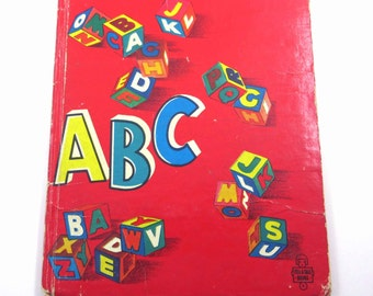 ABC Vintage 1950s Children's Alphabet Book by Whitman Illustrated by Raymond Vartanian