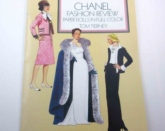 Chanel Fashion Review Vintage Dover Paper Doll Book for Children by Tom Tierney