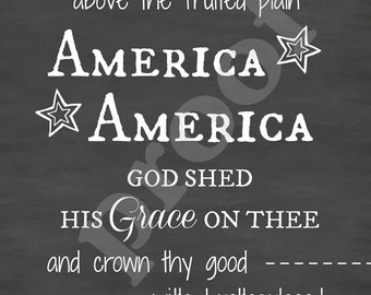 Large 24x36 4th of July American Pride Chalkboard Style Typography Sign Board