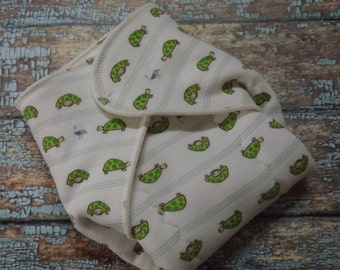 Organic Cotton Winged Prefold-- Turtle Stripes