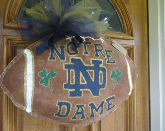 Notre Dame Team Spirit Football Wreath!!!!!!!!!
