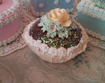 Faux cupcake Summer Dreams Cup cake Shabby cottage chic Fake Food Photo Dessert Prop
