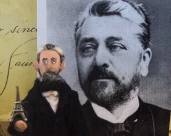 Gustave Eiffel Art Doll Miniature Creator of Eiffel Tower French History