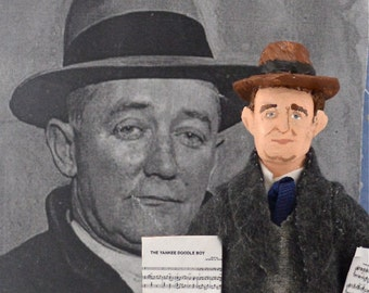George M. Cohan Music Composer American History Art Doll Miniature by Uneek Doll Designs
