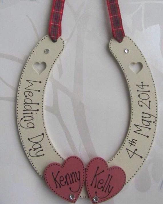 how to make a wedding horseshoe ribbon