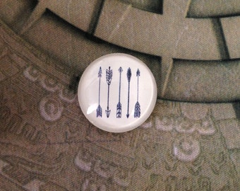 4pcs five-arrow round clear glass dome cabochons 25mm (250014)