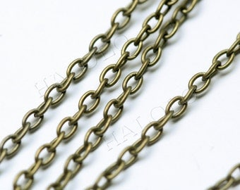 10 feet antique bronze finish cable chain 2x3mm CH60