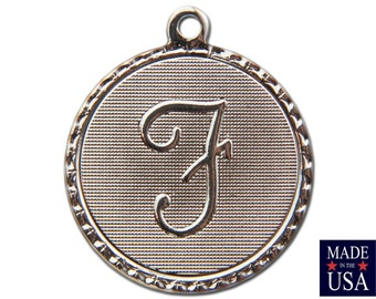 Silver Plated F Letter Charm Drop with Loop (1) chr221F