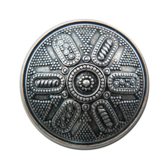 Vintage Metalicized Silver Acrylic Cabochons 30mm (2) cab737A