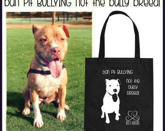 Retablo Graphic Art - Proceeds Benefit Animal Rescue, Bully Breeds, Recycle, Reusable Shopping Bags, Medium Tote Bag