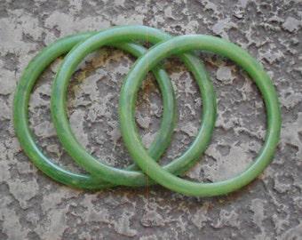 Bakelite/ Bangles/Jade Green/Bracelets/ 1940s