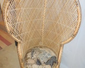 Medium Size Ratan/Bamboo Fan/Princess Chair  Reserved for Zarah