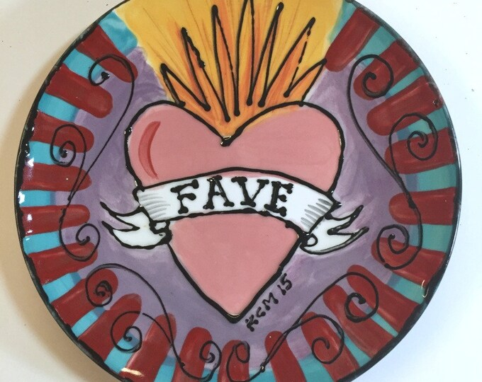 Ceramic Plate FAVE