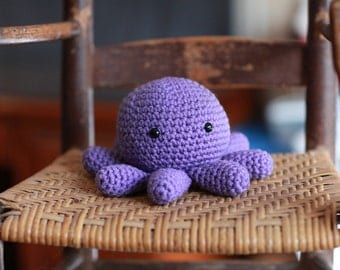 Little Octopus stuffed zoo animal plush toy baby gift