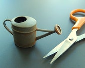 IGMA Fellow Bill Hudson Miniature Rusted and Corroded 1:12 Scale Sprinkling Watering Can, Signed and Dated