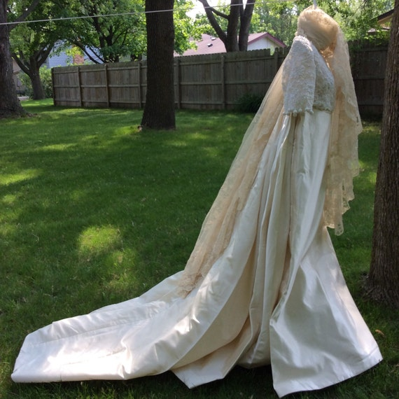 Vintage Wedding Dresses Boston: Priscilla Of Boston Vintage Wedding Gown Empire Waist By
