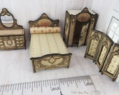 """KIT French Country Bedroom Suite Laser Cut and Engraved 4 piece KIT  1:48 1/4"""" LC022A"""