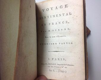 1797 Voyage Sentimentale en France I-II - 18th Century Books (Two Volumes)