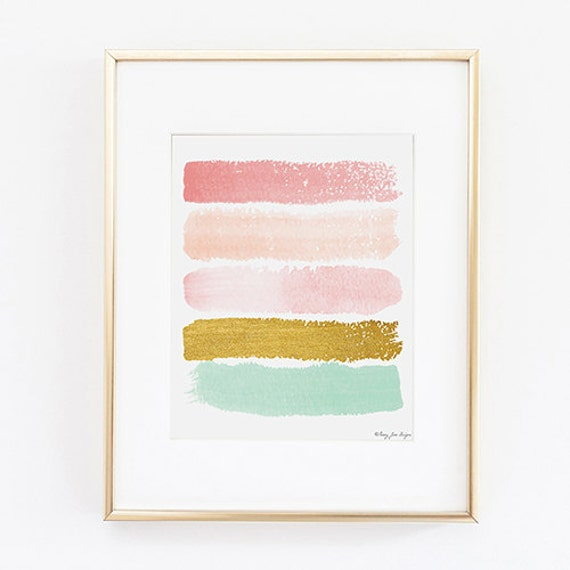 Chambre 8x10 Of Abstract Art Print Paint Strokes Art Abstract By