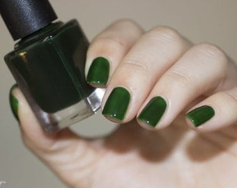 Sea Glass// Handmade Green Nail Polish// Jelly, Sheer, Tinted Lacquer//Cruelty Free