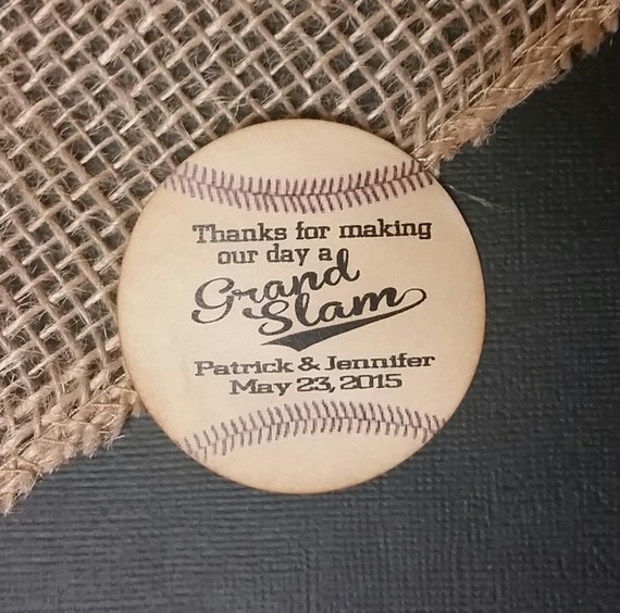"2"" STICKER Thanks for making our day a Grand Slam Favor STICKER choose your amount sold in sets of 20 STICKERS"