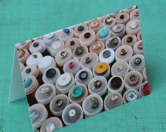 Buttons Note Card