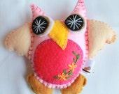 Plush Felt Owl Hanging Ornament  Baby Owl