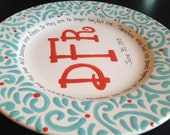Personalized Monogrammed Plate - Wedding Gift