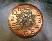 Copper Clock Star Design By Larry West