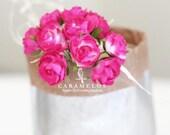 30 Fuchsia Millinery paper flowers