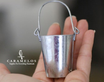 2 Miniature Tin Pails