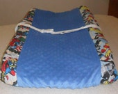 Marvel Retro Comic and Blue Minky Dot Changing Pad Cover
