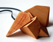 Recycled Huon Pine Fractal Necklace by Mainichi
