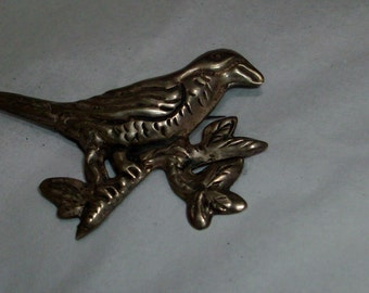 awesome vintage Sterling bird on a branch