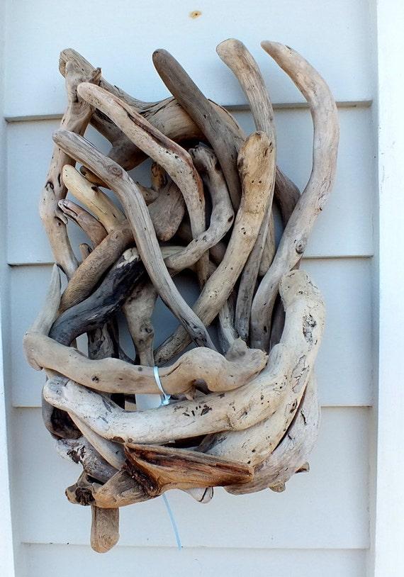 Poche de mur bois flott ou planteur panier plage decor bb148 for Corbeille bois flotte