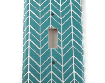 Switchplate Light Switch Cover Wall Decor Light Switchplates in  Turquoise Feather (258S)