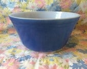 CYBER MONDAY COUPON Hard to Find Blue Federal Bowl