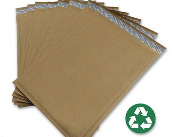 """Size #5 (10.5""""x15"""") Recycled Brown Kraft Bubble Mailer - Free Shipping!"""
