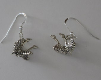 Earrings - Sterling 3D FLYING GEESE - Wildlife, Bird