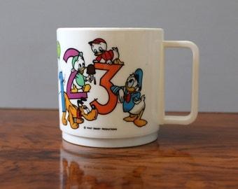 Disney vintage 1980s melamine childrens cup.