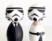 Star Wars inspired kokeshi doll cake topper set. Imperial Stormtroopers.